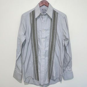 EUC Lucky Brand Embroidered Button Down Small